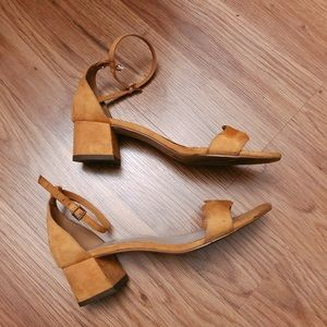 BCBGeneration Shoes - BCBGENERATION Yellow Suede Heels  Size 6.5